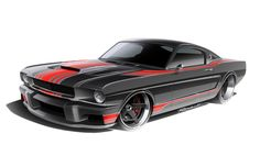 Design renderings for the Ringbrothers' Espionage Mustang.