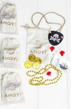 Complete your pirate party with these adorable pre-assembled pirate's booty party favors!