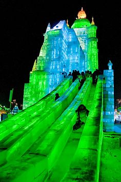 Ice slides at Harbin Ice and Snow World, Harbin, China - an interesting article with tons of amazing photos