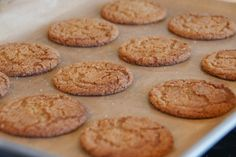 Molasses cookies - chewy and spicy.  Not just for Christmas any more!