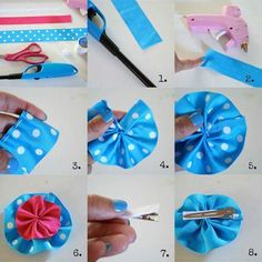 Innovative and colorful hair clip tutorial