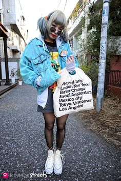 Maiko with the Unisex Zip Hoodie + Cities Bag by #AmericanApparel