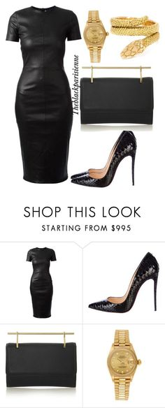 """""""Untitled #96"""" by theblackparisienne ❤ liked on Polyvore featuring Givenchy, Christian Louboutin, M2Malletier, Rolex and Cartier"""