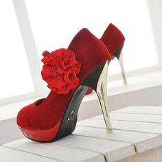 red prom shoes