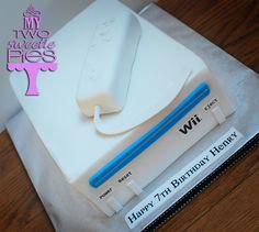 WII birthday cake Happy 7th Birthday, Boy Birthday, Birthday Cakes, Celebration Cakes, Birthday Celebration, Birthday Parties, Wii Party, Party Themes, Party Ideas