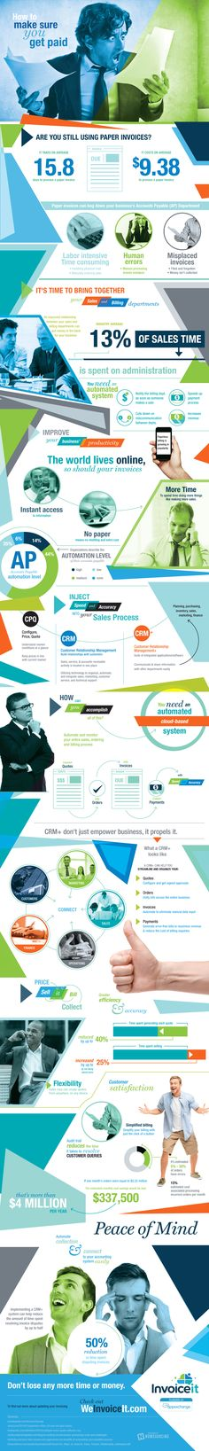 How to Make Sure You Get Paid #infographic #Business #Finance #HowTo