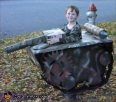 Soldier in a Tank - Halloween Costume Contest via @costumeworks