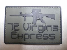 72 Virgins Express PVC Patch Military Tactical Combat Morale Punisher Patch in Collectibles | eBay