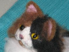 Needle felted whiskers
