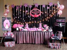 Selena Gomez Rock Star Birthday Party {Ideas, Decor, Styling} Selena Gomez Rock Star birthday party with So Many Cute Ideas via Kara's Party Ideas Rockstar Birthday, Dance Party Birthday, 10th Birthday Parties, Birthday Ideas, Pop Star Party, Star Wars Party, Karaoke Party, Music Party, Diva Party