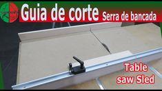 Guia para serra bancada - table saw sled Table Saw Sled, Garage, Workbench Stool, Woodworking, Carport Garage, Garages, Car Garage, Carriage House