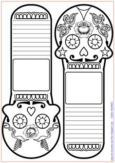Here are the Amazing Dia De Los Muertos Coloring Pages. This post about Amazing Dia De Los Muertos Coloring Pages was posted . Spanish Classroom, Teaching Spanish, Spanish Lessons, Art Lessons, Halloween Crafts, Halloween Decorations, Halloween Math, October Art, Day Of The Dead Art