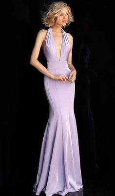 cc3f84dc89c8 Jovani - JVN67271 Sleeveless Deep V-neck Mermaid Dress. CoutureCandy.com
