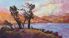 Pastel Lake Painting