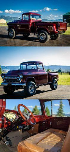 Vintage Trucks For Sale, Custom Trucks For Sale, Vintage Pickup Trucks, Transmission Cooler, 1955 Chevrolet, Vintage Air, Aluminum Radiator, Transfer Case, Pick Up