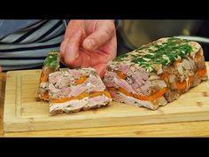 Galareta / golonka na zimno w galarecie / zimne nóżki - YouTube Canned Meat, Meatloaf, Sandwiches, Pork, Keto, Cooking, Youtube, Kittens, Amazing