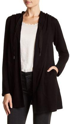 Bobeau Open Front Lightweight Hooded Jacket #Affiliate Link
