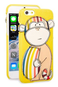 NIB Tory Burch Saffiano Leather MONKEY Applique Logo Apple iPhone Case 6 6S in Cell Phones & Accessories, Cell Phone Accessories, Cases, Covers & Skins | eBay