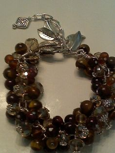 custom order tiger eye with red tiger eye and crystals