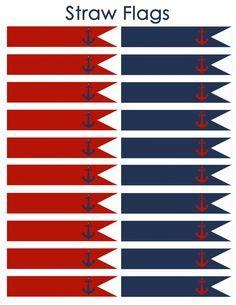 Instant Download Nautical Straw Flags JPEG 300 por DecorAtYourDoor