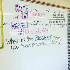 I can't remember who's page I saw this one on, but I loooove the idea! Can't wait to see what's big in my students lives this week! #iteach7th #iteachtoo #teachersofinstagram #teachersfollowteachers #miss5thswhiteboard