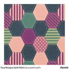Faux Hexagon Quilt Fabric