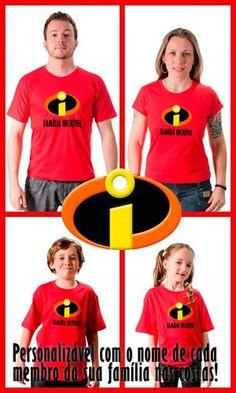 Os Incríveis invadem a Camisetas da Hora : Os Incríveis invadem a Camisetas da Hora Faça como os personagens da Disney, e venha correndo adquirir sua camiseta personalizada #FamiliaIncrivel http://www.camisetasdahora.com/p-4-2…/PDH---Familia-Incrivel | camisetasdahora