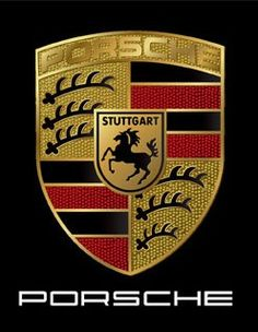 The horse on the Porsche logo, which was taken from Stuttgart's Coat of Arms, represents the stud farm on which the city was built. The Porsche symbol pays homage to Stuttgart. Porsche 550, Porsche Logo, Porsche Carrera Gt, Porsche Models, Porsche Panamera, Porsche Cars, Car Logos With Names, K100 Bmw, Volkswagen