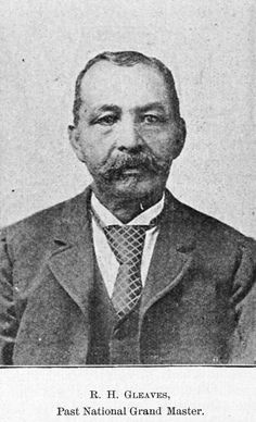 Richard Howell Gleaves (1819-1907) was a prominent Prince Hall mason and Reconstruction-era politician in South Carolina. He was born free in Philadelphia to a Haitian father and an English mother. In 1866, Gleaves went into business with Robert Smalls, who later served in Congress. He also constructed a black fraternal hall that is now known as the Sons of Beaufort Lodge. In 1872 and 1874, Republican Gleaves was elected the 55th Lieutenant Governor of South Carolina.