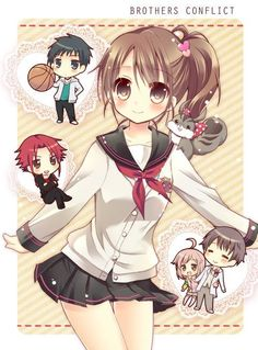 Brothers conflict chibi Again by Karinichani on DeviantArt
