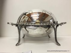 Sheffield d`epoca - Revolving dish Antico entredish by George Edward - Entredish inglese cesellato con ghirlande Immagine n°1