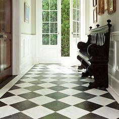 Kitchen floor black and white doors Ideas for 2019 Black And White Hallway, Black And White Tiles, White Doors, Grey Kitchens, Cool Kitchens, Diy Kitchen Remodel, Kitchen Reno, Kitchen Ideas, Kitchen Bar Lights