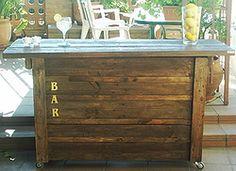 M s de 1000 ideas sobre barra de pal s en pinterest for Bar movil de madera