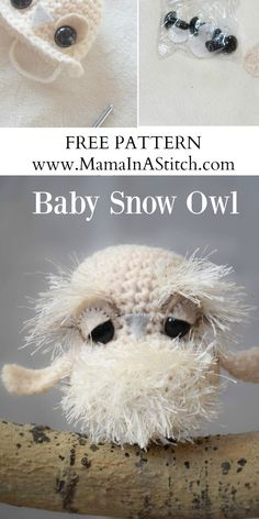 Make this cute crochet owl amigurumi with Lion Brand Wool-Ease and Fun Fur! Free pattern by Mama in a Stitch!
