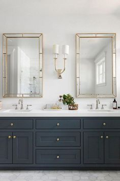 White and Gold Bathroom Decor . White and Gold Bathroom Decor . Elegant Bathroom with Wall Tiles Beautiful Brass Faucets Double Sink Bathroom, White Vanity Bathroom, Bathroom Vanity Cabinets, Gold Bathroom, Modern Bathroom, Brown Bathroom, Bathroom Vanity Mirrors, Kitchen Cabinets, Bathroom Faucets