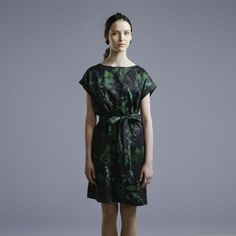 Green Leaves -dress with belt | Weecos