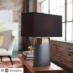 Currey & Co Moonrise Noir #lamp | #hpmkt #hpmkt2015