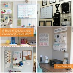 18 Family Command Center Ideas ...great ideas for getting organized!