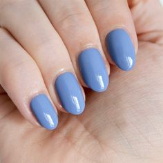 Essie Fall collection - As If! Looking for blue nails ideas? : Essie Fall collection - As If! Looking for blue nails ideas? Light Blue Nail Polish, Blue Nails, My Nails, Golden Nails, Essie Polish, Perfect Nails, Winter Nails, Natural Nails, Nails Inspiration