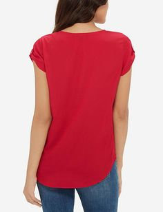 Short Sleeve V-Neck Top