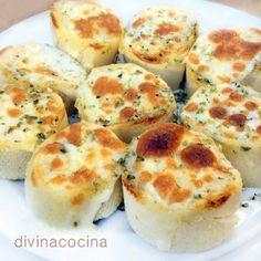 Pan de ajo al queso < Divina Cocina