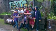 With my friend at taman safari bogor