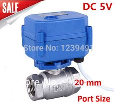 """(33.42$)  Know more - http://aiq6m.worlditems.win/all/product.php?id=32275958019 - """"Motorized Ball Valve 3/4"""""""" DN20 DC5V CR04 Wire 2 way Stainless Steel 304 Electric Ball Valve"""""""