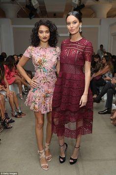 Shanina Shaik and Nicole Trunfio.. #NYFW #Spring2017... - Celebrity Fashion Trends