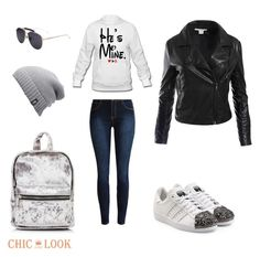 """""""@chiclookclo set"""" by sabypolivore ❤ liked on Polyvore featuring adidas Originals, The North Face and Sans Souci"""
