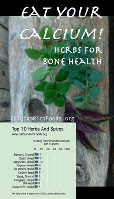 Calcium in Herbs & Spices @ CalciumRichFoods.org