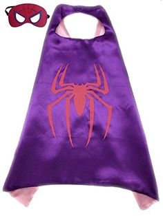 (Spider-Girl) ROXX Cape and Mask Costume for Child Superhero Superman Kids Girl Boy - http://our-shopping-store.com