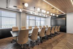 Office Interior Design, Office Interiors, Office Ceiling Design, Wooden Cladding, Ceiling Cladding, Terrazzo Flooring, Glass Facades, Commercial Design, Commercial Interiors