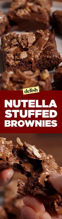 Nutella-Stuffed Brownies  - Delish.com