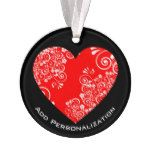 Create Your Own Christmas or Valentine's Day Heart Ornament #valentines #design #ideas
